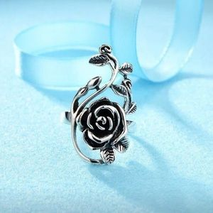 NWT 925 Sterling Silver Rose Flower Ring